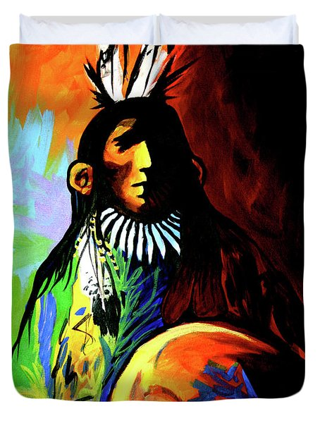 Indian Shadows Duvet Cover by Lance Headlee