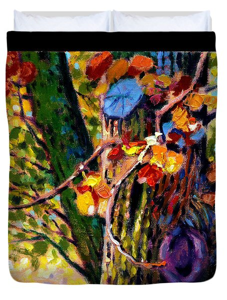Indian Summer Detail Eight Duvet Cover by John Lautermilch
