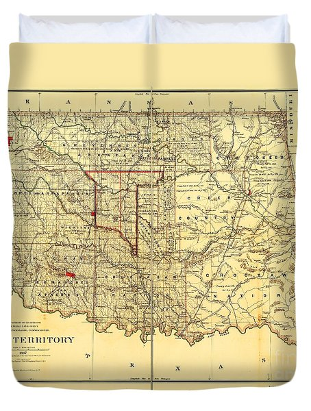Indian Territory Duvet Cover by PG REPRODUCTIONS
