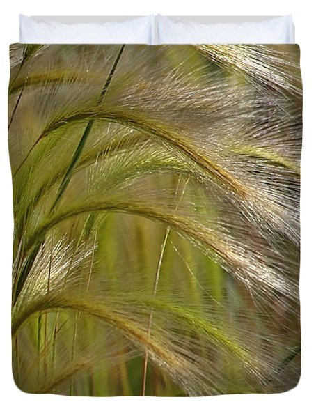 Indiangrass Swaying Softly With The Wind Duvet Cover by Christine Till