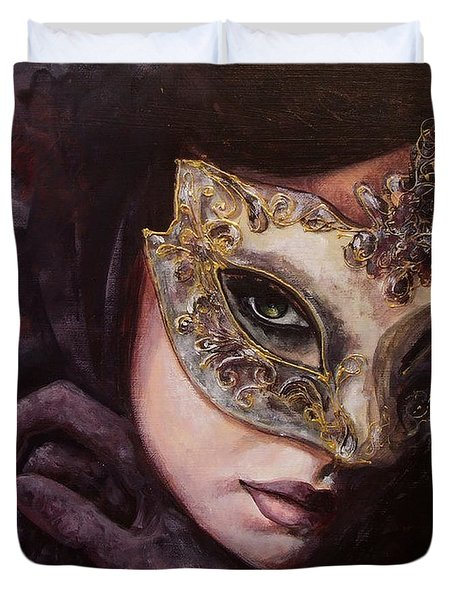 Ingredient of mystery  Duvet Cover by Dorina  Costras