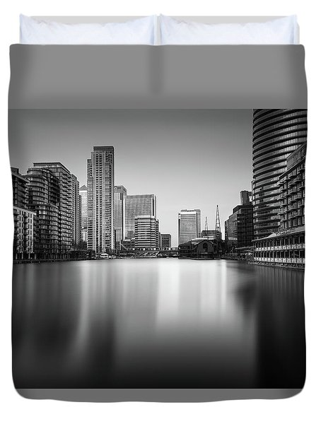 Inside Canary Wharf Duvet Cover by Ivo Kerssemakers