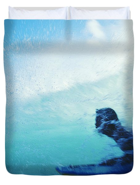 Inside The Wave Duvet Cover by Bob Abraham - Printscapes