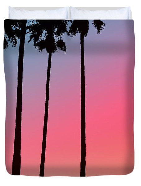 Intercoastal Sunset Duvet Cover by Bill Cannon