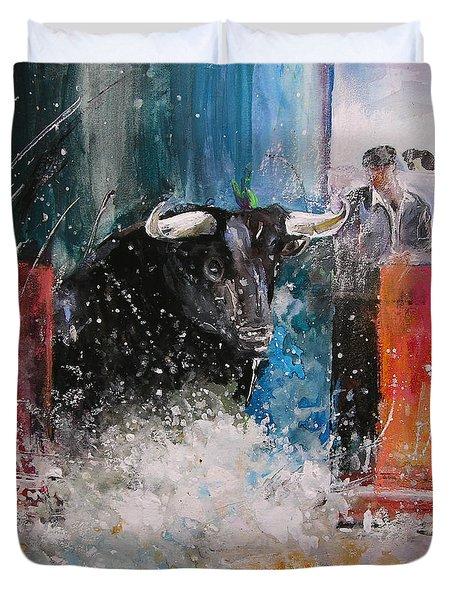Into The Arena Duvet Cover by Miki De Goodaboom