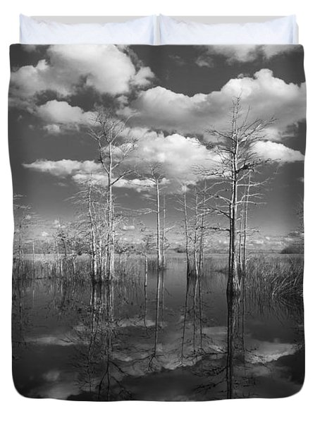 Into The Everglades Duvet Cover by Debra and Dave Vanderlaan