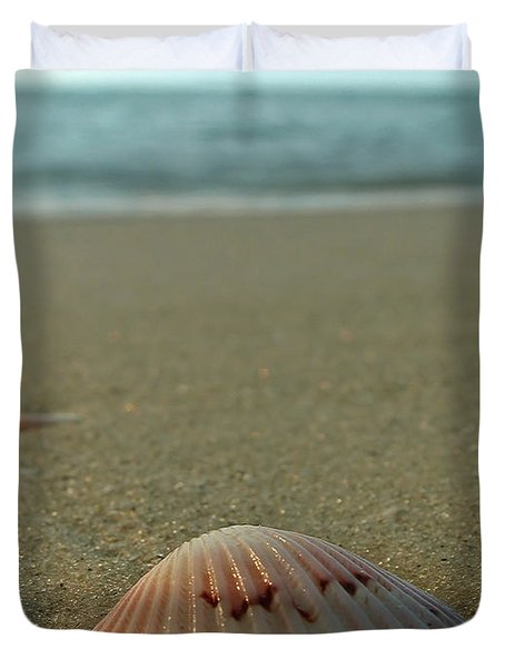 Iridescent Seashell Duvet Cover by Juergen Roth
