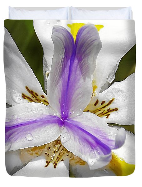Iris An Explosion Of Friendly Colors Duvet Cover by Christine Till