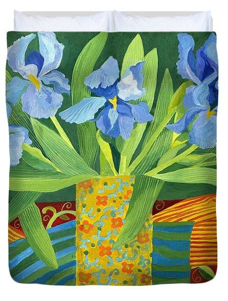 Iris Duvet Cover by Jennifer Abbot