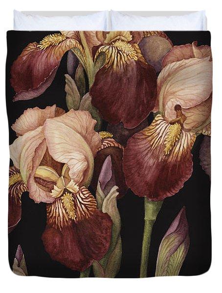 Irises Duvet Cover by Jenny Barron