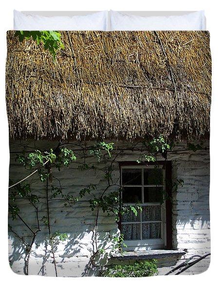 Irish Farm Cottage Window County Cork Ireland Duvet Cover by Teresa Mucha