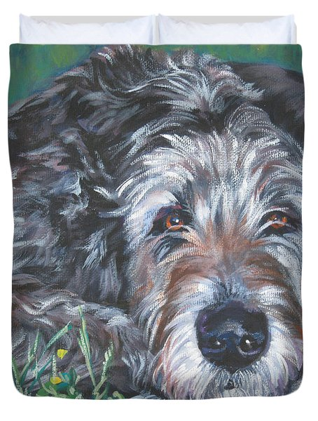 Irish Wolfhound Duvet Cover by Lee Ann Shepard