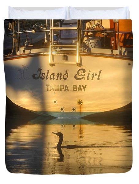 Island Girl Duvet Cover by David Lee Thompson