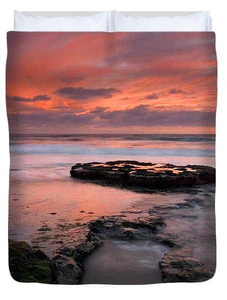 Isle Of The Setting Sun Duvet Cover by Mike  Dawson