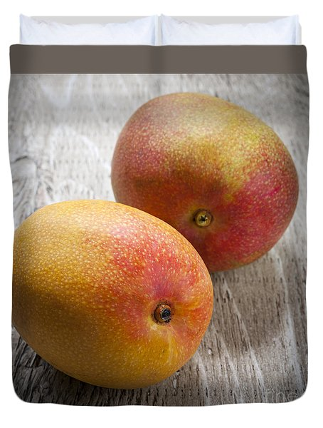 It Takes Two To Mango Duvet Cover by Elena Elisseeva