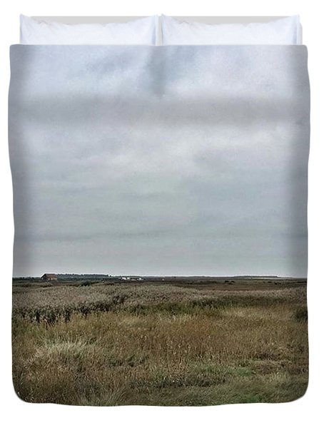 It's A Grey Day In North Norfolk Today Duvet Cover by John Edwards