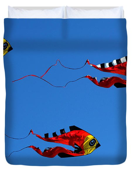 It's A Kite Kind Of Day Duvet Cover by Clayton Bruster
