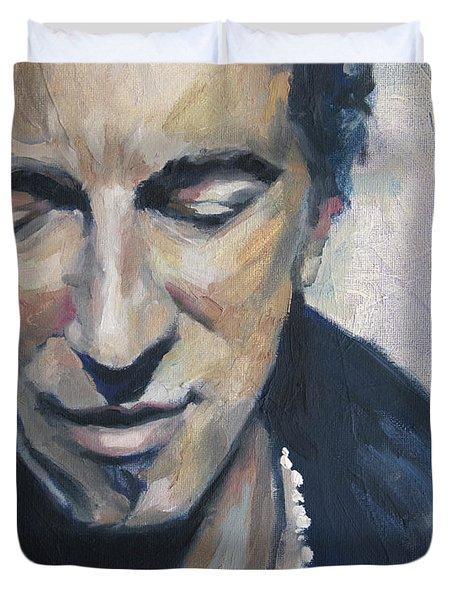 It's Boss Time II - Bruce Springsteen Portrait Duvet Cover by Khairzul MG