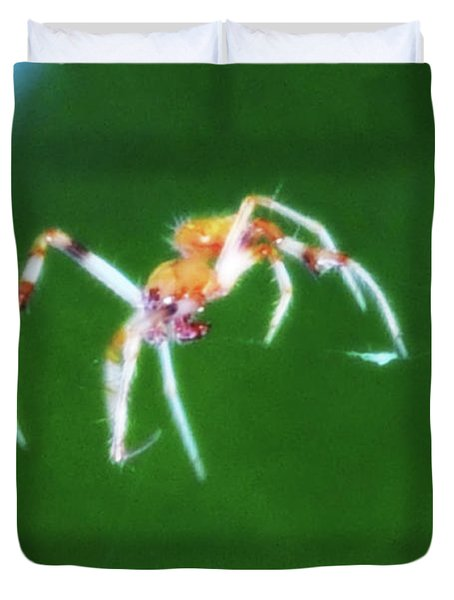 Itsy Bitsy Spider Duvet Cover by Bill Cannon
