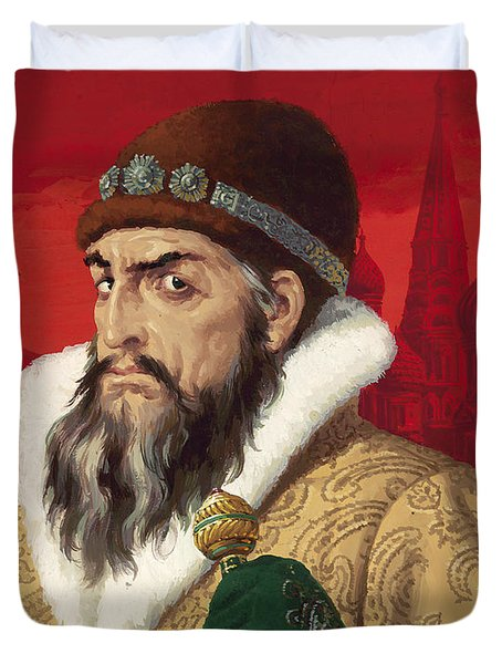 Ivan The Terrible Duvet Cover by English School