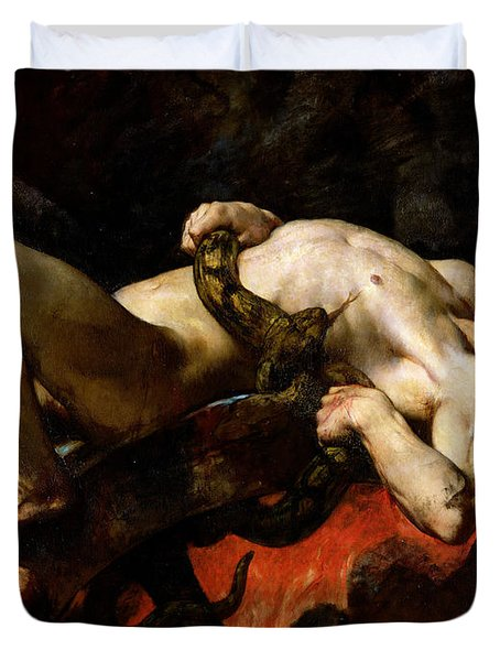 Ixion Thrown Into Hades Duvet Cover by Jules Elie Delaunay