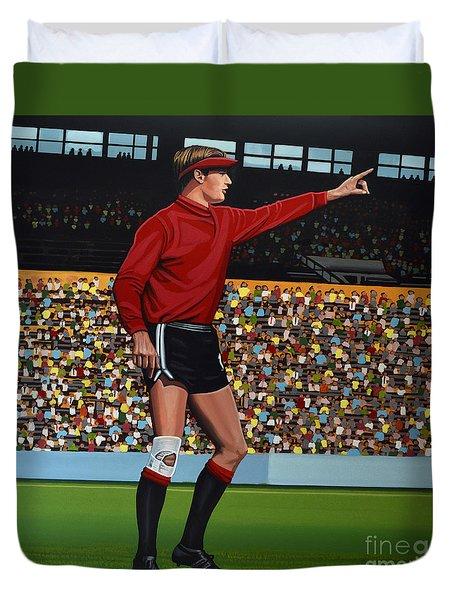 Jan Van Beveren Duvet Cover by Paul Meijering