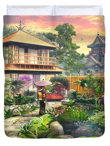 Japan Garden Variant 2 Duvet Cover by Dominic Davison