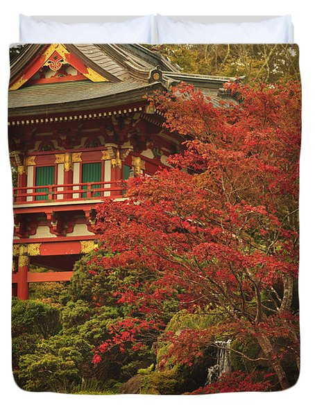 Japanese Tea Garden In Golden Gate Park Duvet Cover by Stuart Westmorland