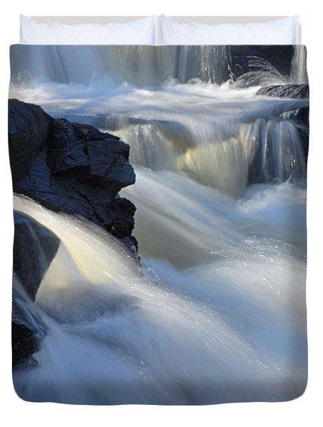 Jasper Falls Closeup Duvet Cover by Larry Ricker
