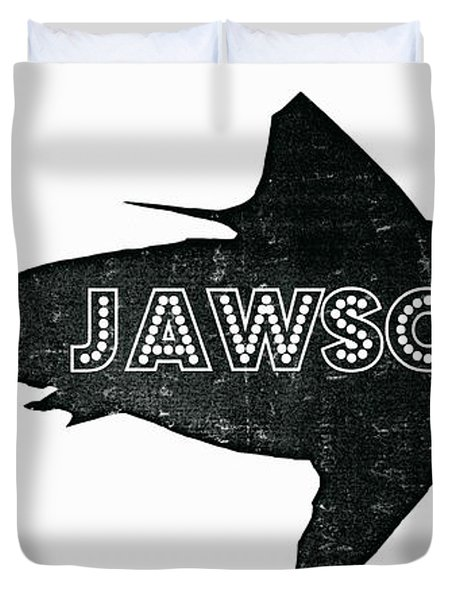 Jawsome Duvet Cover by Michelle Calkins