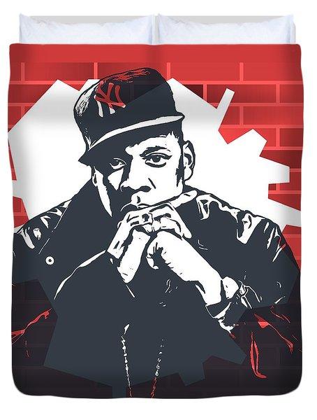 Jay Z Graffiti Tribute Duvet Cover by Dan Sproul