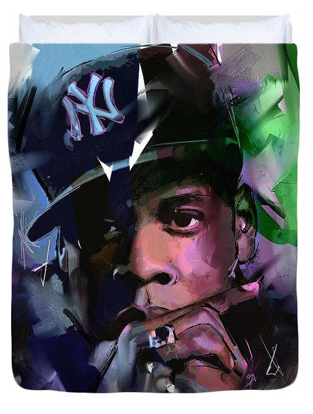 Jay Z Duvet Cover by Richard Day