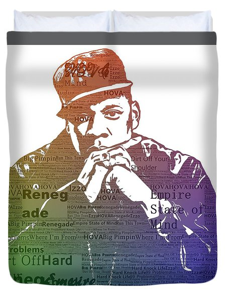Jay Z Typography Duvet Cover by Dan Sproul