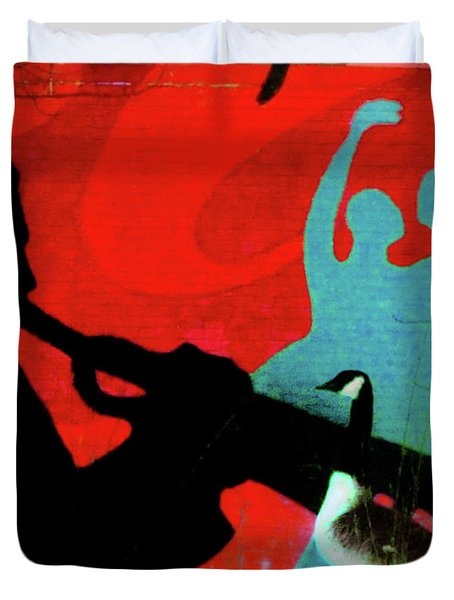 Jazz Goose Duvet Cover by Bill Cannon