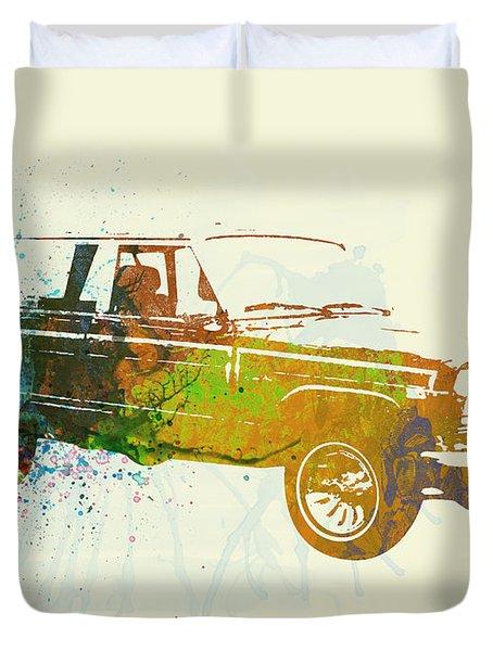 Jeep Wagoneer Duvet Cover by Naxart Studio