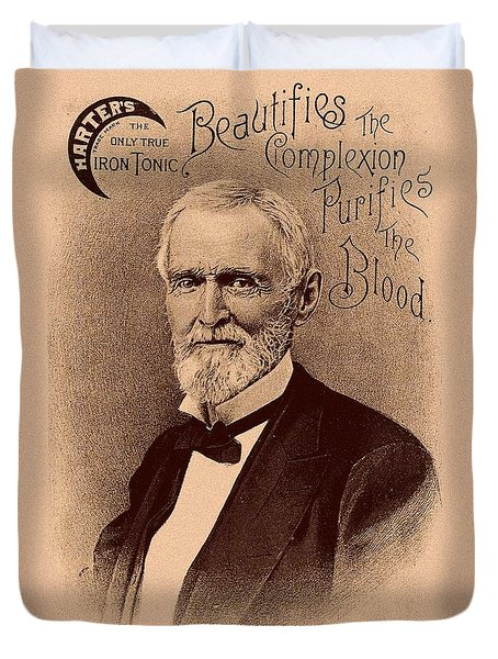 Jefferson Davis Vintage Advertisement Duvet Cover by War Is Hell Store