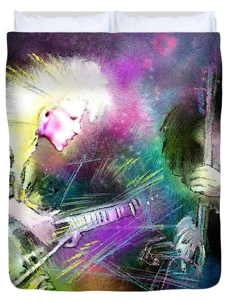 Jennifer Batten Duvet Cover by Miki De Goodaboom