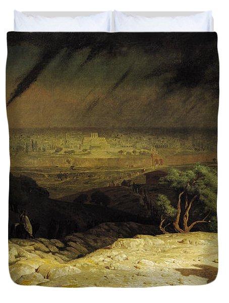 Jerusalem Duvet Cover by Jean Leon Gerome
