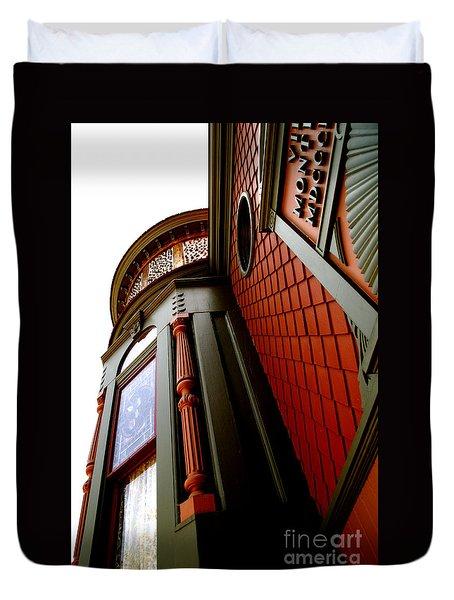 Jesse's Home Duvet Cover by Linda Knorr Shafer