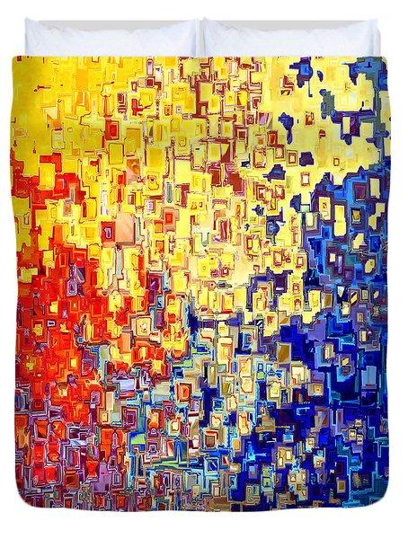 Jesus Christ The Light of the World Duvet Cover by Mark Lawrence