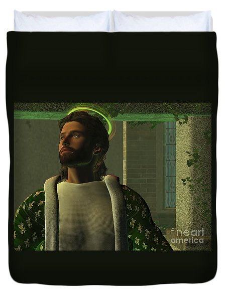 Jesus Duvet Cover by Corey Ford
