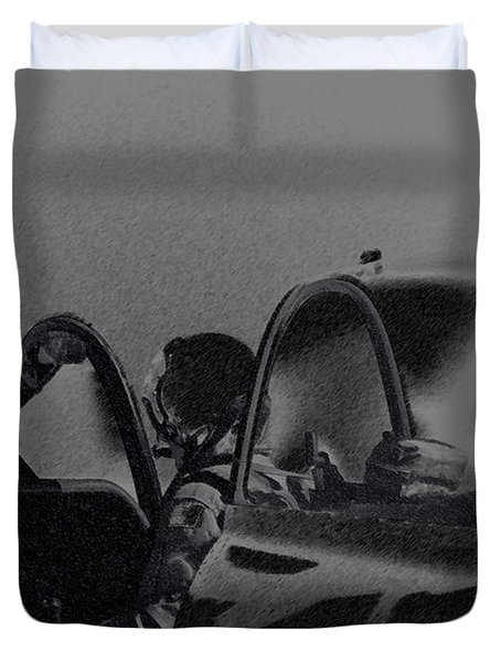 Jet Pilots Duvet Cover by Karol  Livote