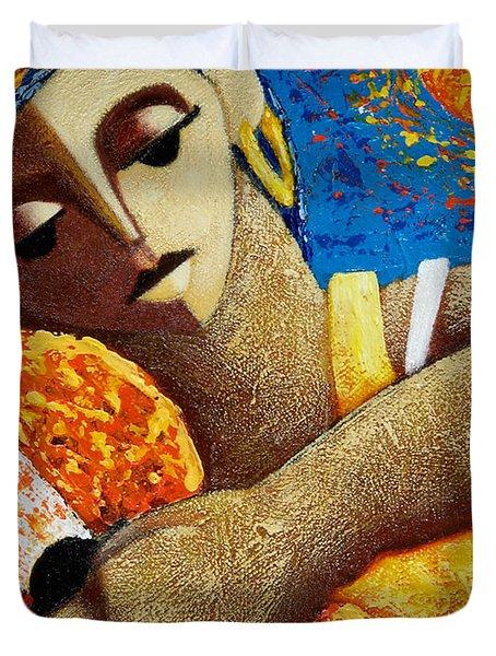 Jibara Y Sol Duvet Cover by Oscar Ortiz