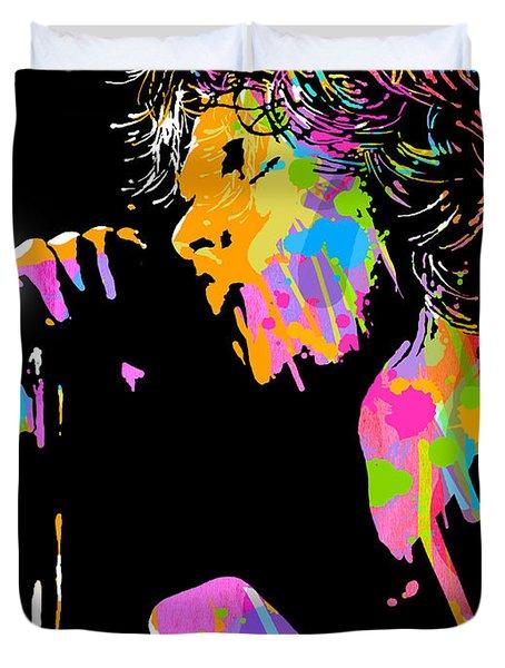 Jim Morrison Duvet Cover by Paul Sachtleben