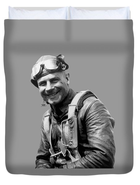Jimmy Doolittle Duvet Cover by War Is Hell Store