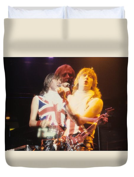 Joe And Phil Of Def Leppard Duvet Cover by Rich Fuscia