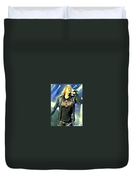 Joe Elliott Of Def Leppard Duvet Cover by David Patterson