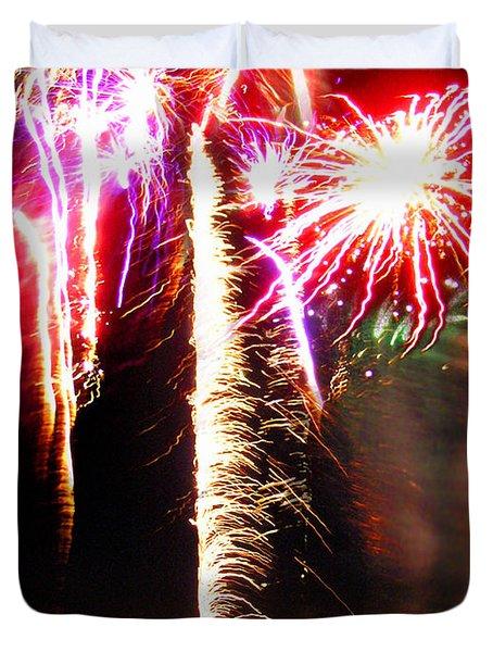 Joe's Fireworks Party 1 Duvet Cover by Charles Harden