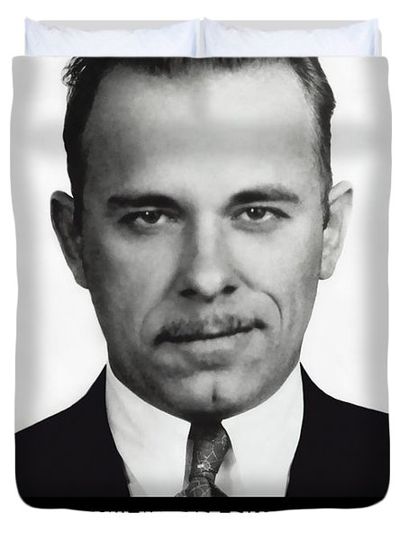 JOHN DILLINGER -- Public Enemy No. 1 Duvet Cover by Daniel Hagerman