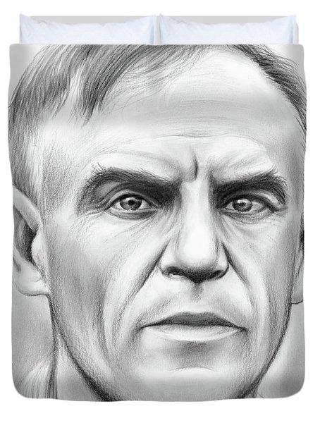 John Heisman Duvet Cover by Greg Joens